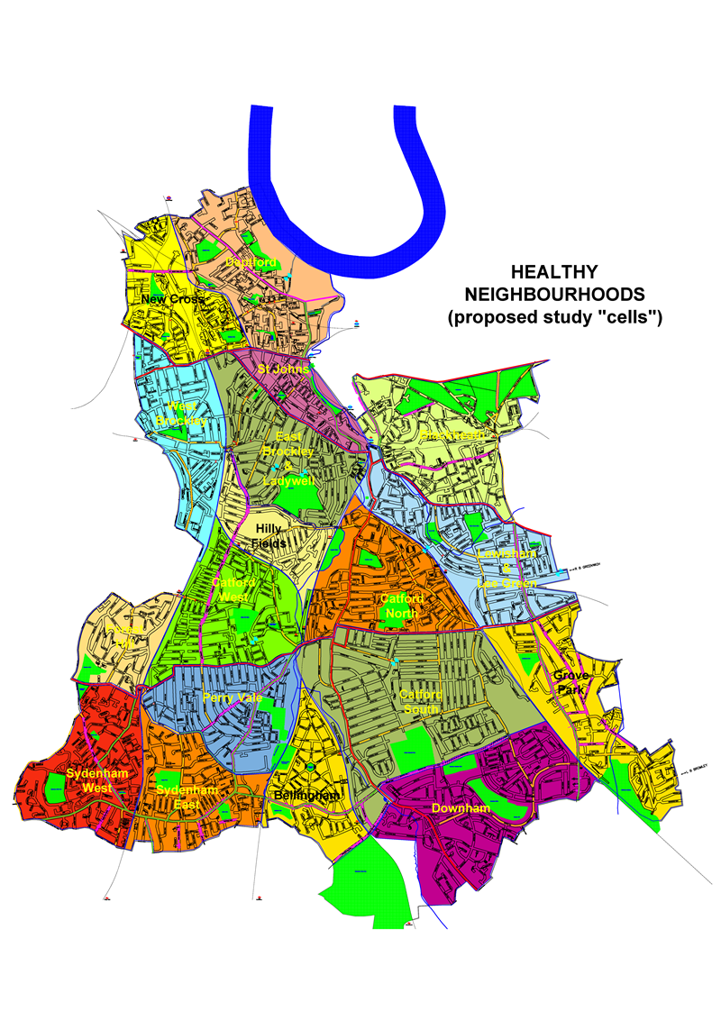 Healthy Neighbourhoods boundaries