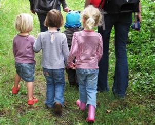 Garthorn Road Nature Reserve - group of children