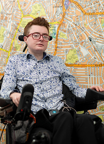 Jamie Hale, Chair of the Lewisham Disabled People's Commission