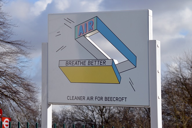 Line-drawn, pastel coloured box with air written on it, reading 'breathe better'