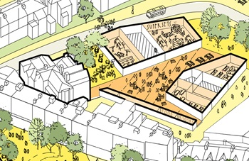 Axonometric of proposed site