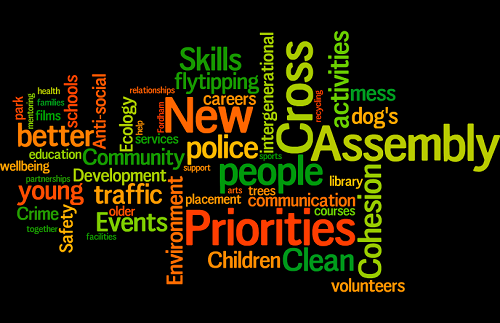 New Cross local assembly - tag cloud